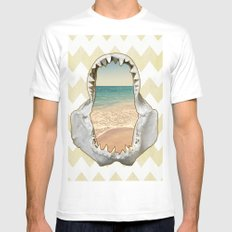 Surfs Up SMALL Mens Fitted Tee White