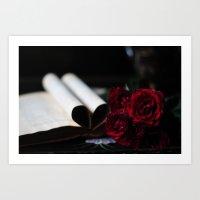 My Love Is Like A Red, R… Art Print