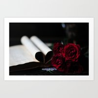 My Love Is Like A Red, R… Art Print