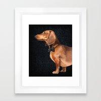 Portrait Of An Elegant D… Framed Art Print