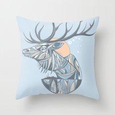 elk root blue Throw Pillow