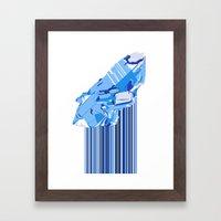Crystal Drip Down Framed Art Print