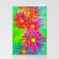 Bright Sketch Flowers Stationery Cards