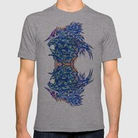 Crystal Raccoons Mens Fitted Tee Athletic Grey SMALL