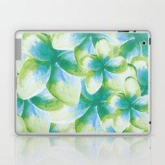 Blue Plumeria Floral Watercolor Laptop & iPad Skin