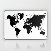 World Map Black Shape Co… Laptop & iPad Skin