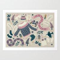 Winter Woolies Art Print