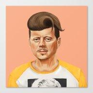 Hipstory -  John F Kenne… Canvas Print