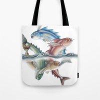 INKYFISH - Jumping Fish Tote Bag