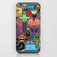 iPhone & iPod Case featuring Monsters by Fran Court