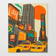 Canvas Print featuring Time Square by Jazzberry Blue