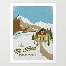 Ski Mt. Hood Art Print