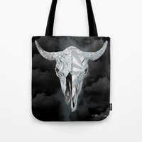Bull Skull Tote Bag