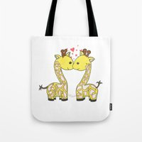 Giraffes in Love Tote Bag