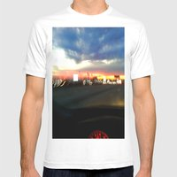 710 Lights Mens Fitted Tee White SMALL