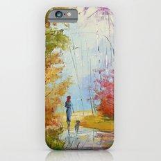 A walk in the autumn woods iPhone 6 Slim Case