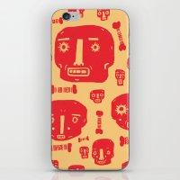 Skulls & Bones - Red/Yellow iPhone & iPod Skin