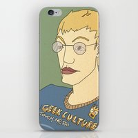 Geek culture / touch me, too iPhone & iPod Skin
