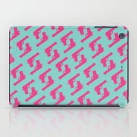 Mint and pink guns iPad Case