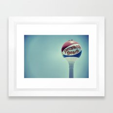 Happy Beach Framed Art Print