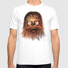 STAR WARS CHEWBACCA SMALL White Mens Fitted Tee
