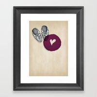 Zebra shoes Framed Art Print