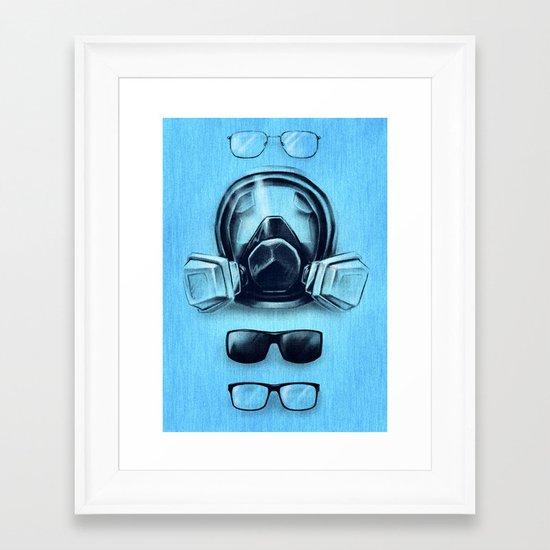 All I See Is Blue Framed Art Print