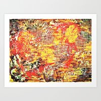 Golden Autumn Abstract Art Print