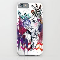 iPhone & iPod Case featuring Tribal Girl  by Holly Sharpe