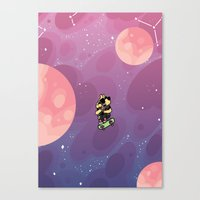 Teen Dog in Space Canvas Print