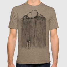 rain Mens Fitted Tee Tri-Coffee SMALL