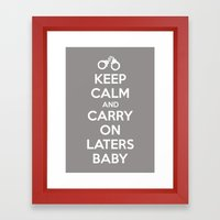 Keep Calm And Carry On L… Framed Art Print