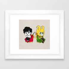 Sherlock and loki Framed Art Print