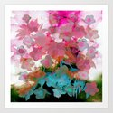 abstract bouquet on watercolors Art Print