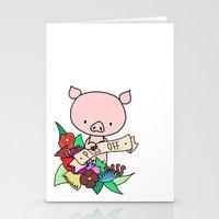 Piggy, PISS OFF! Stationery Cards