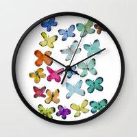 For A Friend: Butterflies Wall Clock