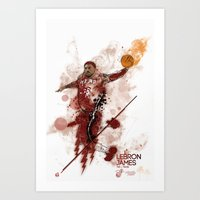 Lebron James Tribute Art Print