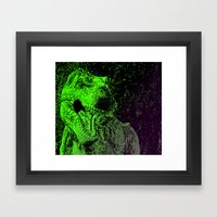 Flashy T-Rex  Framed Art Print
