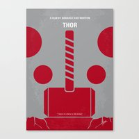 No232 My THOR minimal movie poster Canvas Print