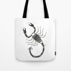Scorpio Black/White Tote Bag