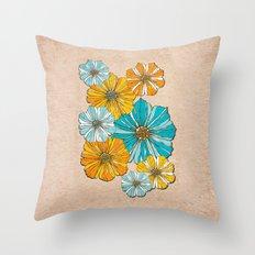 Sunny flowers Throw Pillow