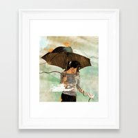 Framed Art Print featuring CLOUDWALKER by Stephan Parylak