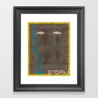 Minimalist Storm Framed Art Print