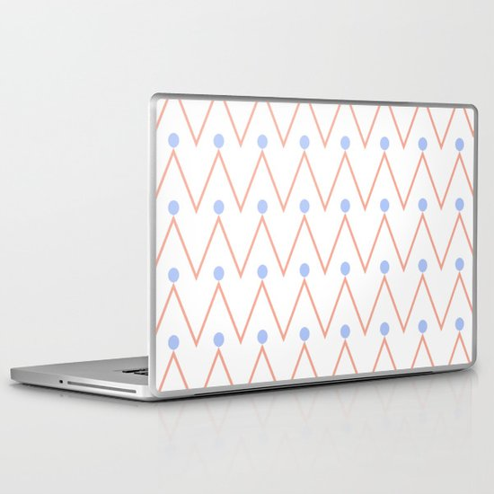 Chevron and dots 2 Laptop & iPad Skin