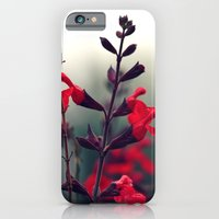 iPhone & iPod Case featuring Red Flowers by Bottle of Jo