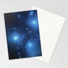 Taurus Constellation, Pleiades star cluster Stationery Cards