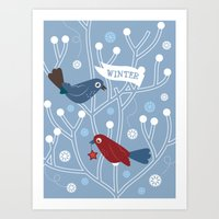 4 Seasons - Winter Art Print