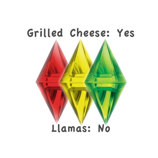 No Llamas Canvas Print
