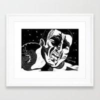 Glass Jaw Framed Art Print