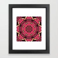 Fantasy Flower Kaleidosc… Framed Art Print